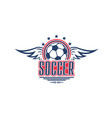 soccer game symbol with football sport ball vector image