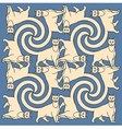 Seamless cats repetition pattern vector image vector image