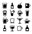 Drink and beverage icons set vector image