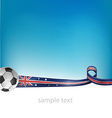 australian flag with soccer ball vector image