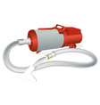 old vacuum cleaner vector image