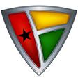 steel shield guinea-bissau vector image