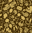 seamless gold Valentines pattern vector image
