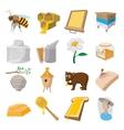 Apiary cartoon icons set vector image