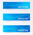 Blue banners with brush strokes vector image