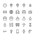 Web and User Interface Outline Icons 1 vector image