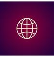 World Globe Icon pictogram icon vector image vector image