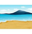 A sea shore vector image