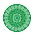 green mandala ethnic oriental decoration vector image