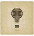 hot air balloon old background vector image