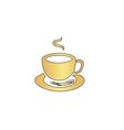 Hot coffe computer symbol vector image