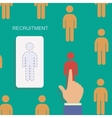 Human resource and recruitment modern concept Hand vector image