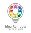 idea rainbow light colorful symbol design vector image