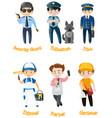 men doing different kinds of jobs vector image