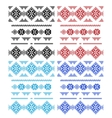 Set of laces isolated over white vector image