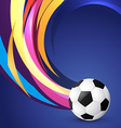 wave style football design vector image