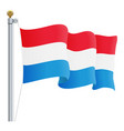 waving luxembourg flag isolated on a white vector image