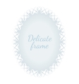 White convex oval delicate frame vector image