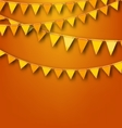 Autumnal Decoration with Orange and Yellow Bunting vector image