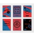 Set of sale templates with discount offer vector image