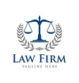 Law Firm Logo Template vector image