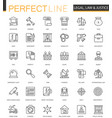 black classic web law and justice icons set vector image