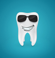 Steep and healthy tooth vector image vector image