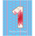 Happy birthday one card vector image vector image
