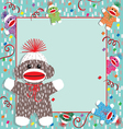 baby sock monkey shower vector image