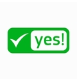 Yes check mark icon simple style vector image