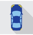 car top view vehicle vector image vector image