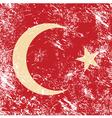 Turkey retro flag vector image