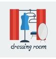 dressing room Studio on white background flat vector image