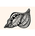 Shell with abstract pattern vector image