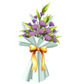 A boquet of violet flowers vector image
