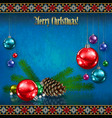 abstract celebration greeting with christmas vector image