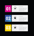infographic set business in colorful vector image