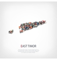 people map country East Timor vector image