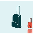 Travel bag icon isolated vector image