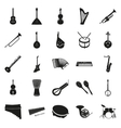 Collection of black musical instruments vector image
