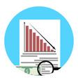 Analysis of financial crisis app icon vector image