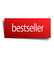 Bestseller red paper sign isolated on white vector image