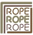 Rope elements and forms vector image vector image