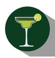 Drinks glasses concept design vector image