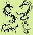 tribal dragon vector image