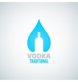 vodka bottle drop background vector image vector image