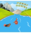 funny fishing vector image