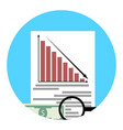 Analysis of financial crisis app icon vector image