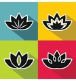 Black flowers with white stroke on background vector image