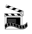 clapperboard film tape icon image vector image